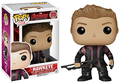 Avengers 2 Hawkeye Pop! Vinyl Figure - Criminal, turned hero, turned Pop! In his new and improved Avengers 2 outfit, Hawkeye is here and ready to join your Pop! collection, but watch out for his arrows. Ah, there's no real need for that… you'll never see them coming anyway.