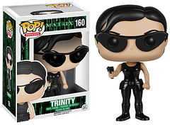 The Matrix Trinity Pop Vinyl Figure - She's a master of Kung-Fu, an excellent shooter, and the perfect companion for saving the world. Trinity is a vital part of the rebellion against the Machines, and a vital addition to your Pop! Vinyl Figure collection.
