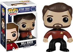 Star Trek Will Riker Pop! Vinyl Figure - William T. Riker is back, and he's gone undercover as the newest edition to your Pop! collection. He stands at 3.75 inches tall and still has the nicest hair in the entire Starfleet.
