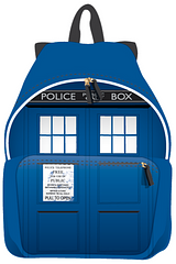 Doctor Who TARDIS Backpack - Much like the actual TARDIS, this backpack seems much more spacious on the inside. Perfect for storing anything from school supplies to everyday items. Other Doctor Who fans will be truly jealous of this backpack.
