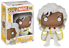 X-Men Storm Pop! Vinyl Figure - She's back, and she's taking the Pop! world by storm. Dressed in her White X-men outfit and standing at 3.75 inches tall, this fierce mutant is ready to join your Pop! collection today.