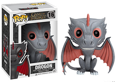 Drogon Pop! Vinyl Figure - Drogon is known for being the most aggressive of Daenerys' Dragons, but you wont have to worry about any flames from this adorable 3.75 inch Pop! Vinyl Figure.