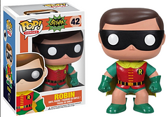 1966 Robin Pop! Vinyl Figure - Holy smokes, Batman!This groovy, retro, Robin Pop! Vinyl Figure is back in his classic outfit. At 3.75 inches tall, he's ready to take on the world, and your Pop! collection, by Batman's side.