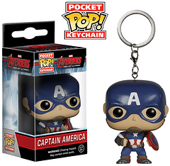 Captain America Pop! Keychain - You can now be under the careful protection of Captain America everywhere you go, with this Pop! Keychain. He's lightweight, comes complete with his iconic shield and is ready to go wherever you do.
