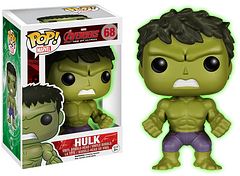 Hulk Gamma Glow Pop! Vinyl Figure - It was the Gamma bomb that made The Hulk come to existence and its effect lives on in this glow-in-th-dark 3.75 inch Pop! Figure, as part of the Avengers: Age of Ultron series.