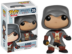 Assassin\'s Creed Arno Pop! Viny Figure - Arno joined the brotherhood in order to redeem himself and seek vengeance for his father, which you can help him do, in Assassin's Creed Unity, and now he's ready to join your collection. This 3.75 inch Pop! Vinyl Figure comes complete with sword and Phantom Blade.