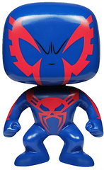 Spiderman 2099 Pop! Vinyl Figure - He's here from the year 2099 and has altered his genes once again, from 50% Spider DNA to 100% Pop! Vinyl. Dressed in his blue and red suit and standing at 3.75 inches tall Spiderman 2099 is ready to shoot a web and swing straight into your collection today.