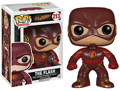 The Flash Pop! Vinyl Figure - This Pop! Vinyl Figure of The Flash is based on CW's Television show The Flash, so he's dressed in his burgundy and gold outfit. But be quick, he'll be gone in a flash.