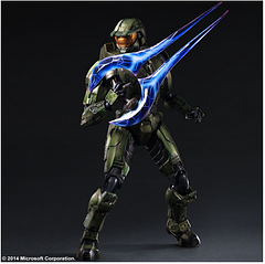 Master Chief Play Arts Kai Figure - The war against the covenant has produced many heroes, but only one legend. You can get your Master Chief Play Arts Kai Figure today. He comes in his Mark IV from Halo 2 and stands at 11 inches tall with multiple point of articulation.The figure Includes an energy sword, 2 SMG's, 5 optional hand parts, and a base.